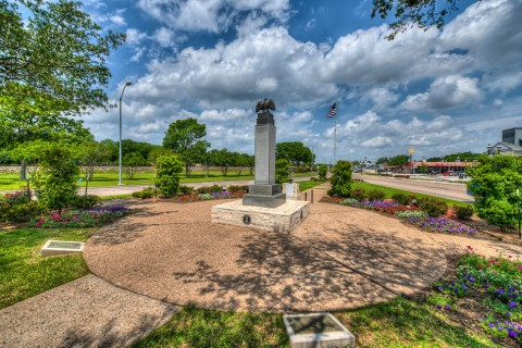 Memorial Park at Main St and Center in Duncanville, Texas.