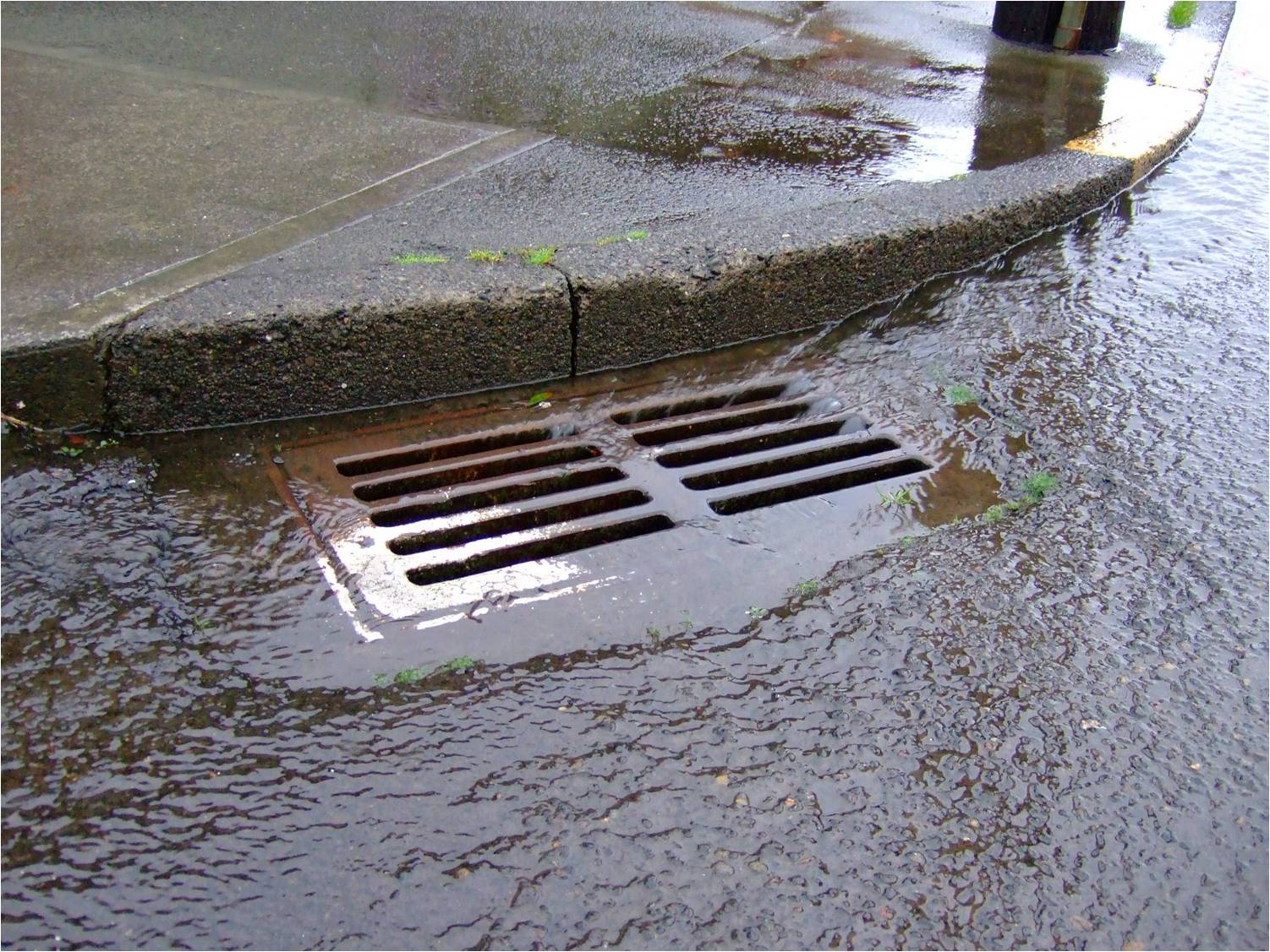 Street Stormwater Drain City Of Duncanville Texas Usa