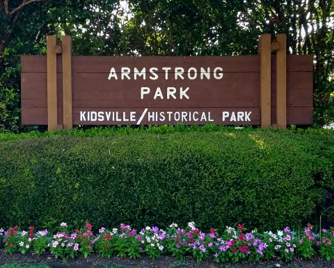 Image of Armstrong Park Sign