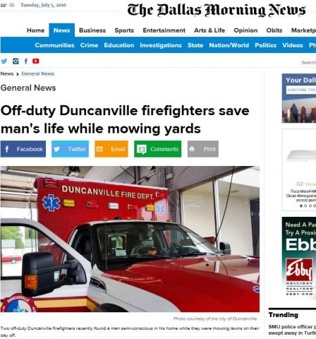 DMN firefighter article july 5 2016