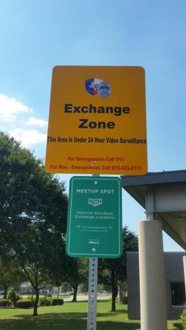 exchange-zone-sign
