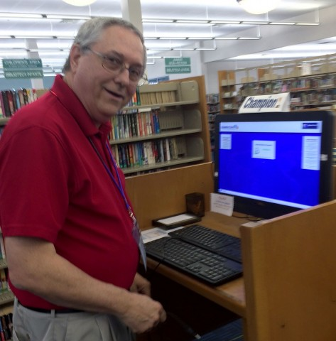 Ron - Information Technology Librarian. His other car is over 80 years old.