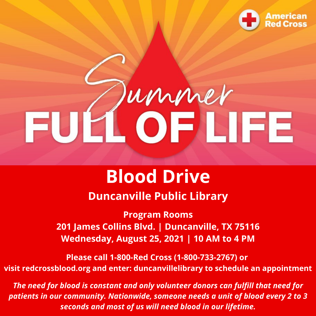 Summer Full of Life Blood Drive