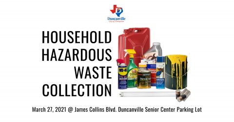 March 27, 2020 Household Hazardous Waste Collection