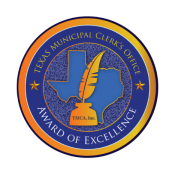 texas municipal clerks office award of excellence