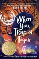 "book cover art of ""When you trap a tiger"""