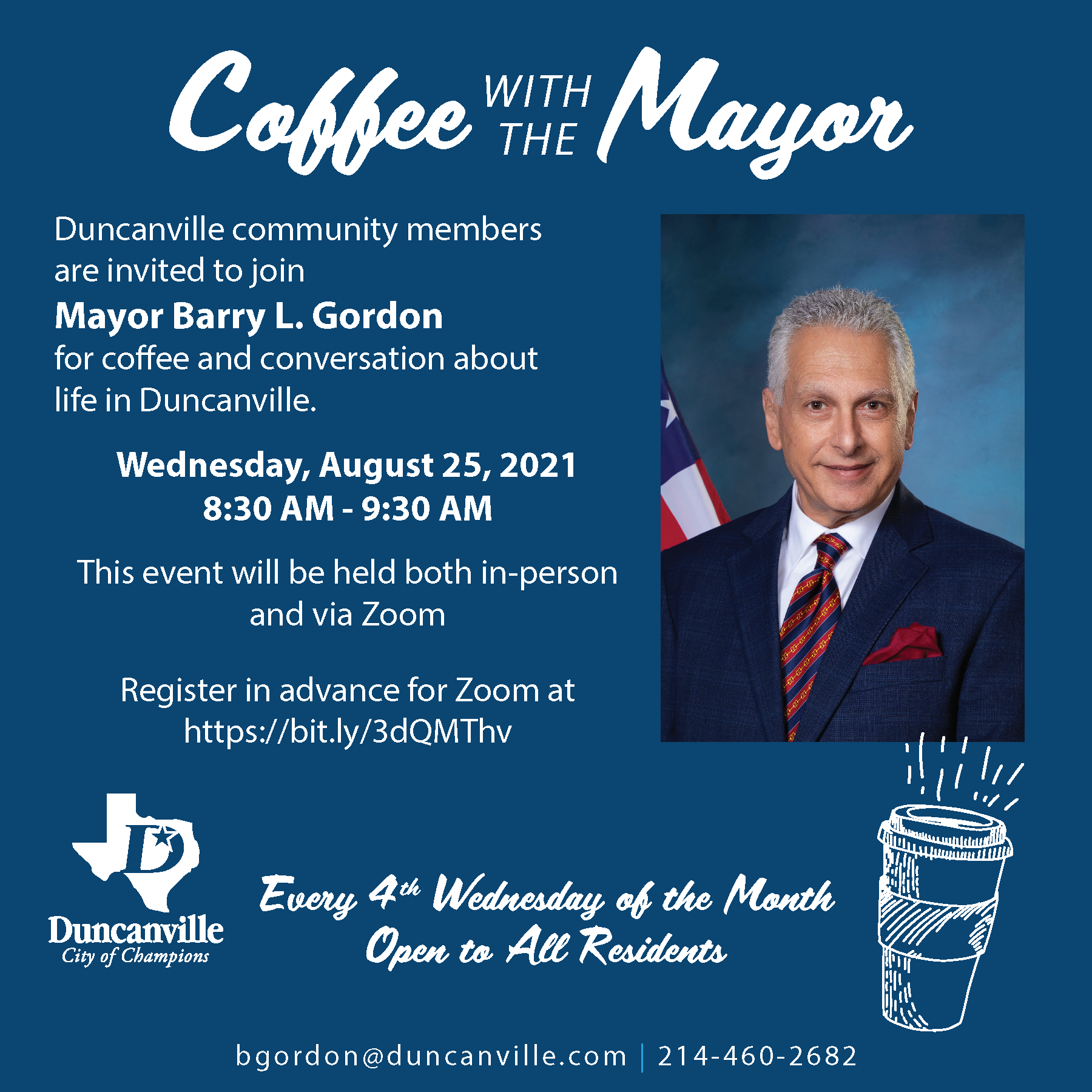 Coffee with the Mayor for August 25, 2021
