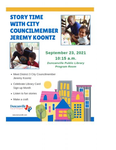 Story Time with City Councilmember Jeremy Koontz