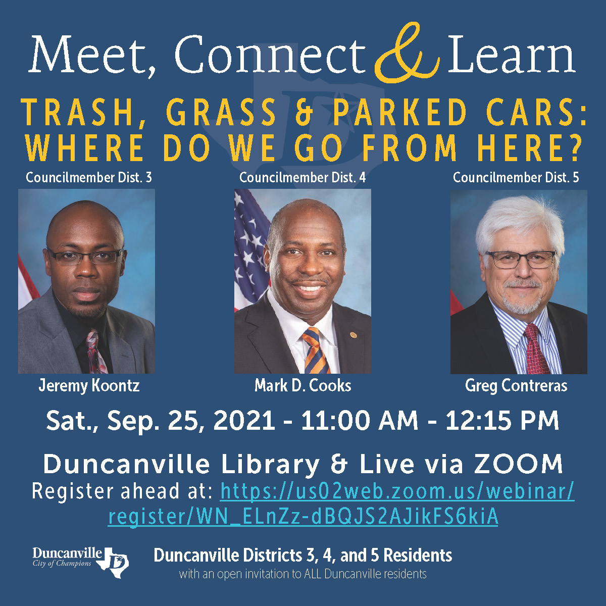 Meet, Connect & Learn - September 25, 2021